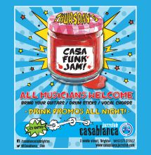 Click to see more about THURSDAYS - Casa Jams - Live, Brighton