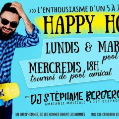 Mercredis Happy Hour!