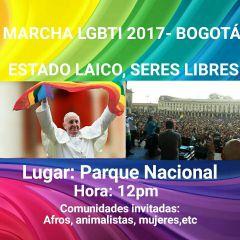 Marcha LGBTI 2017- ESTADO LAICO, SERES LIBRES