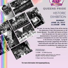 Queens Pride Historic Exhibit