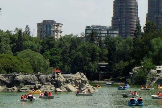 Boating at Chapultepec Lake