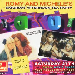 Erasure Romy & Michele's Saturday Afternoon Tea Party