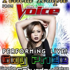 Click to see more about Pride Saturday 2017 & Felicia Temple from The Voice!