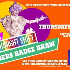 Click to see more about Midnight Shift Members Badge Draw with Polly Petrie, Sydney