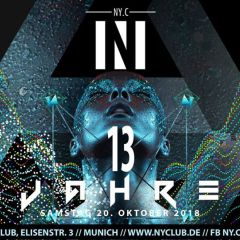 13 Jahre NY.Club - Save the Date