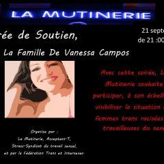 Soirée de Soutien pour La Famille De Vanessa Campos