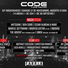 Evento Oficial - 15 Aniversario Code