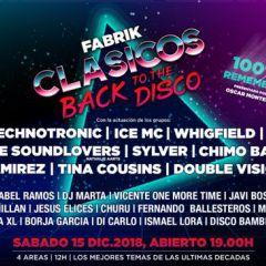 Evento Oficial - FABRIK Clásicos Back to the Disco