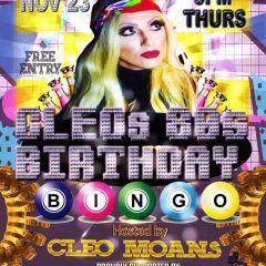 Cleo's 80s Birthday Bingo